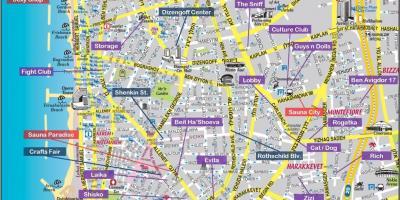 Tel Aviv Arată Hartă Hărți Tel Aviv Israel